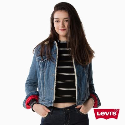牛仔外套 女裝 金色刺繡 毛領Sherpa - Levis