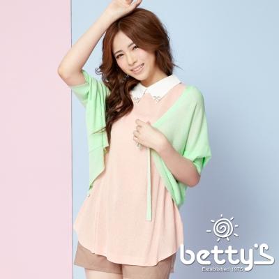 betty-s貝蒂思-綁結開襟飛鼠袖針織罩衫-淺綠