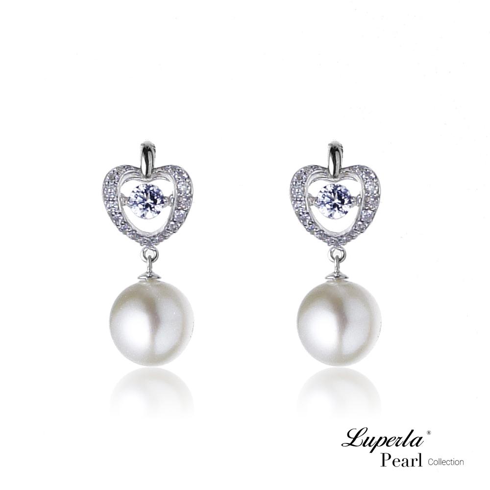 【大東山珠寶】淡水珍珠純銀晶鑽耳環 魅力之舞