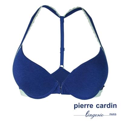 pierre cardin 皮爾卡登舒棉系列厚墊前扣B罩(深藍)