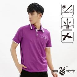 【遊遍天下】男款抗UV吸濕排汗機能POLO衫GS10016紫色