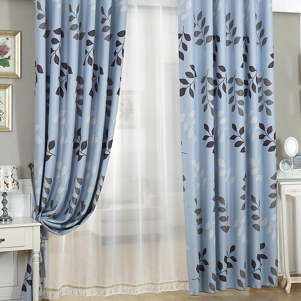 布安於室-三色葉單層雙用窗簾-寬130x高150cm