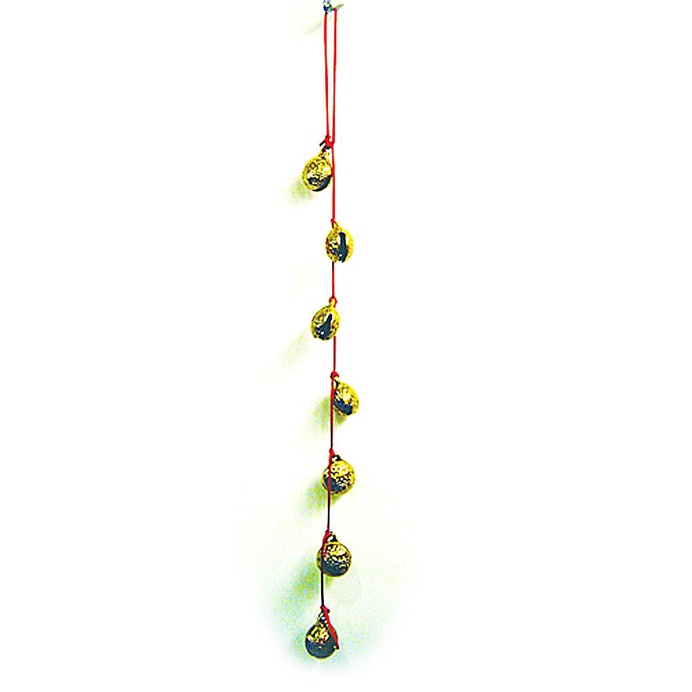 開運陶源  【催財銅鈴/銅鐘】 7個銅製風鈴吊飾