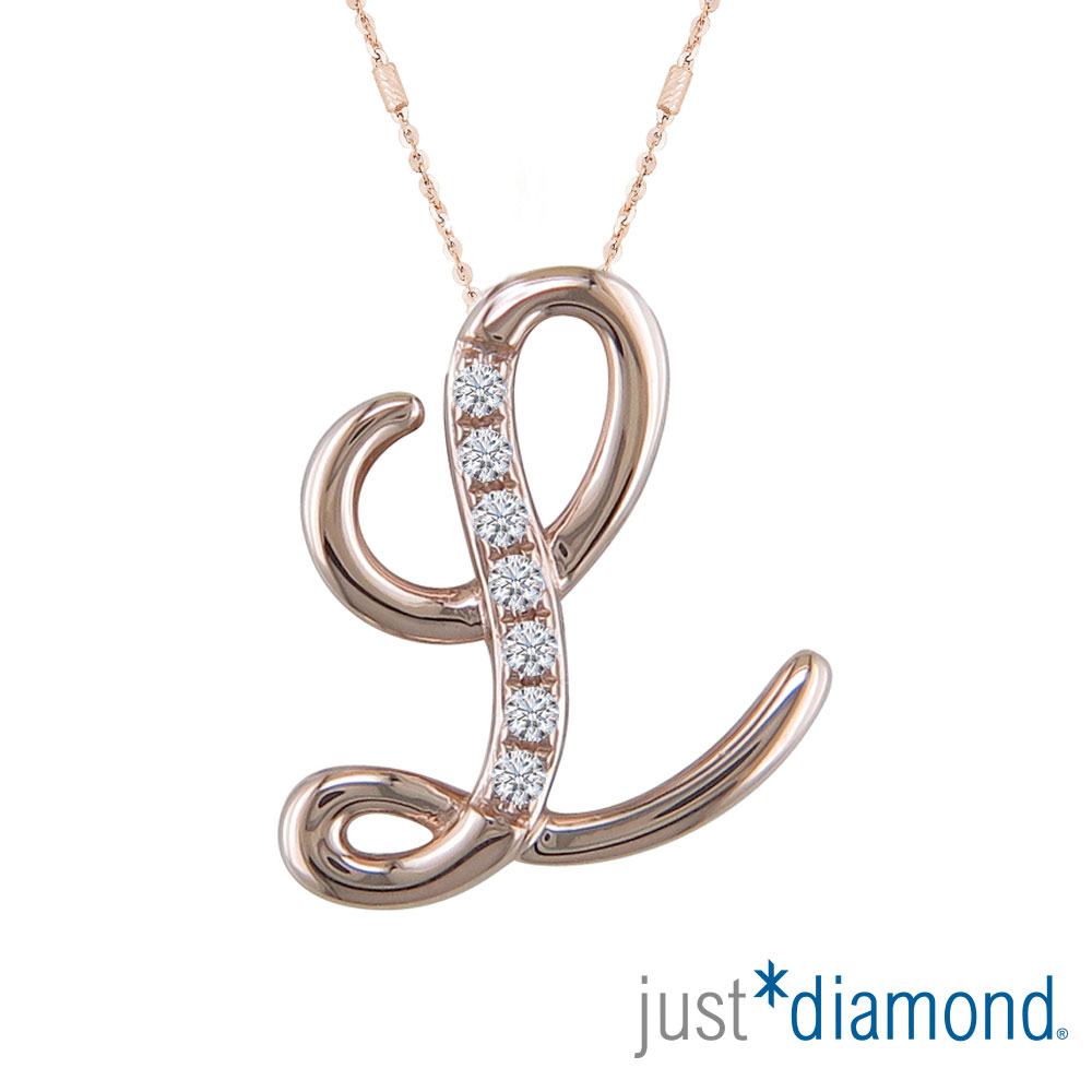 Just Diamond Love Letter系列18K金鑽石墜子-L product image 1