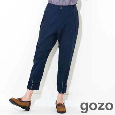 gozo-實穿款亮眼縫線口袋長褲-三色