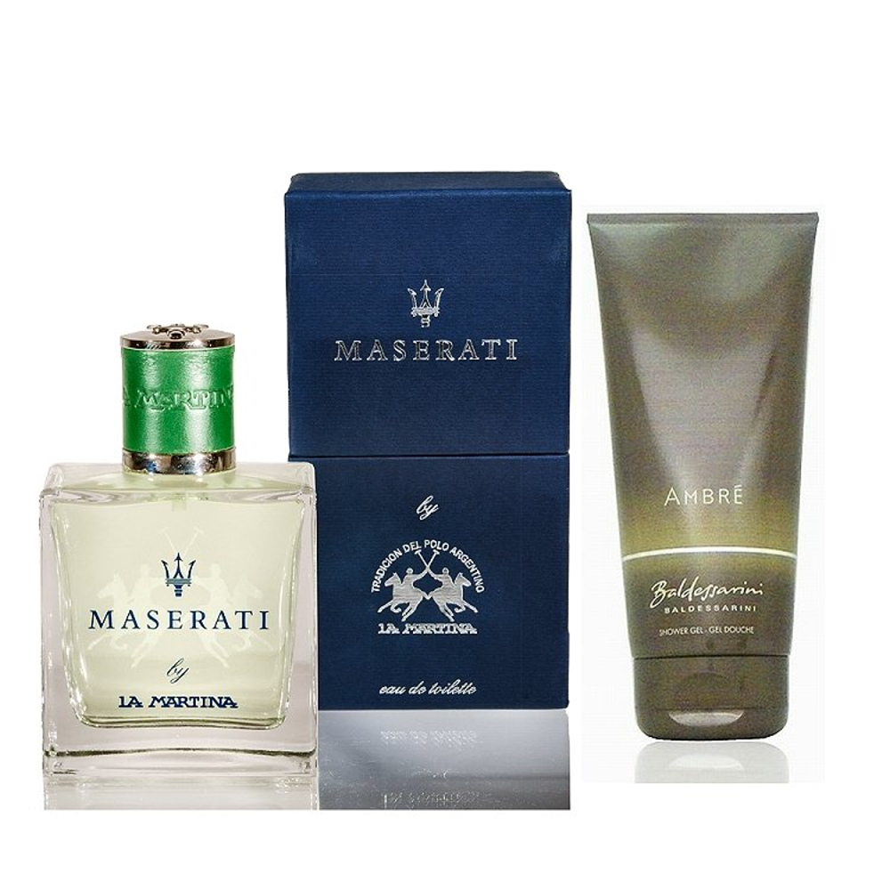 Maserati 海神綠淡香水 100ml 搭贈Baldessarini 沐浴精200ml