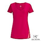 Arcteryx 24系列 女 有機棉 Regenerate 短袖T恤 仙丹花紅