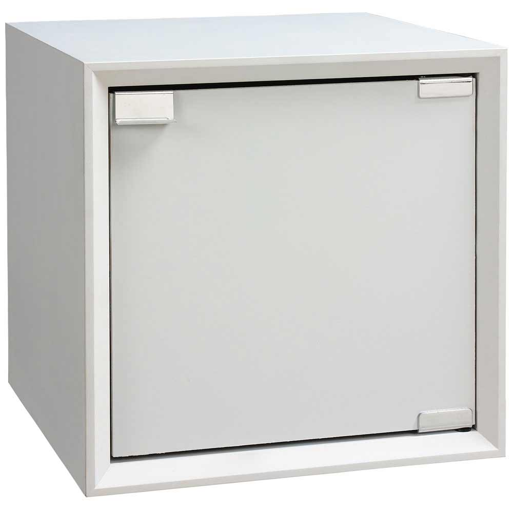 魔術方塊30系統收納櫃/木門櫃-白色