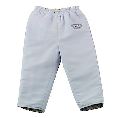 愛的世界 SUPERMINI 保暖舖棉兩面穿長褲-淺藍/3~4歲