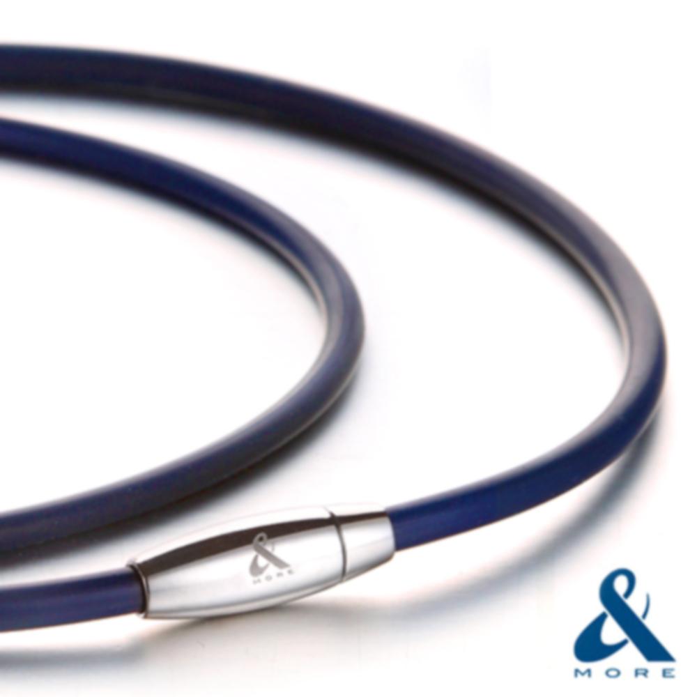 MEGA POWERⅡ超濃雙層鍺鈦項鍊(4mm)藍色