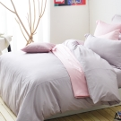 Cozy inn 簡單純色-丁香紫-200織精梳棉被套(雙人)