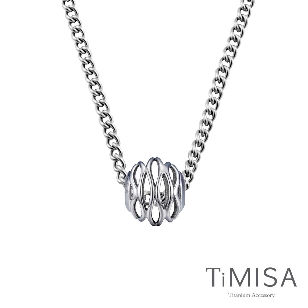 TiMISA 波紋 純鈦串飾項鍊(M02D)