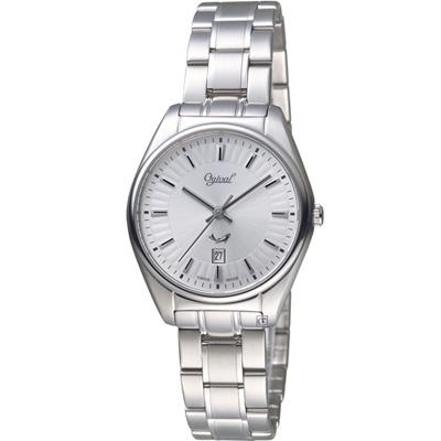 愛其華 Ogival知性韻調時尚腕錶(350-01LS)白/30mm
