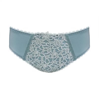 曼黛瑪璉 Marie One 蕾絲 低腰三角內褲(水漾藍)