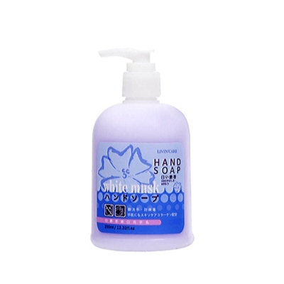 LIVIN CARE 白麝香嫩白洗手乳350ml