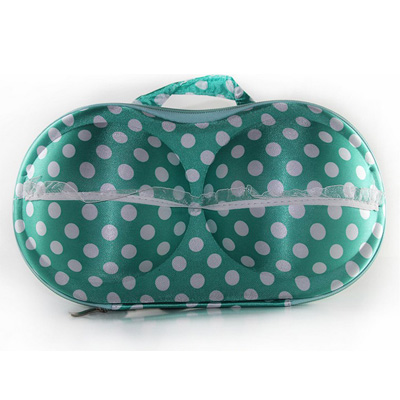 iSFun 加厚網狀 防撞內衣收納盒 綠色白點