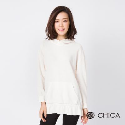 CHICA 雪花精靈柔色連帽設計上衣(1色)