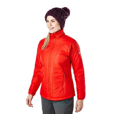 【Berghaus貝豪斯】女款溫度調節高科技棉防風外套H22FR1-紅