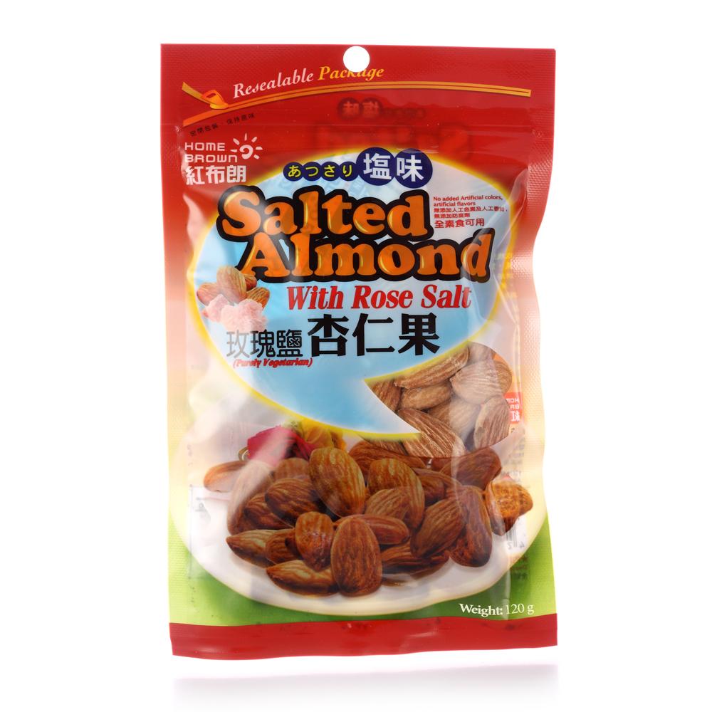 紅布朗 玫瑰鹽杏仁果(120g/包)