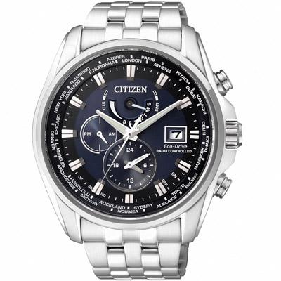 CITIZEN 光動能 撼動世界200米防水5局電波腕錶(AT9031-52L)-藍/44mm