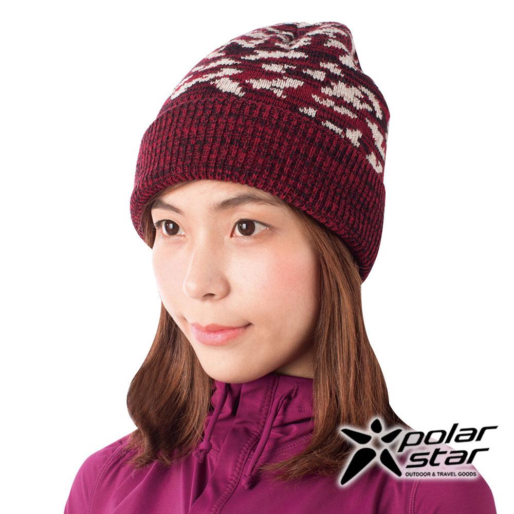 PolarStar 迷彩束口反摺保暖帽『紅』P16622