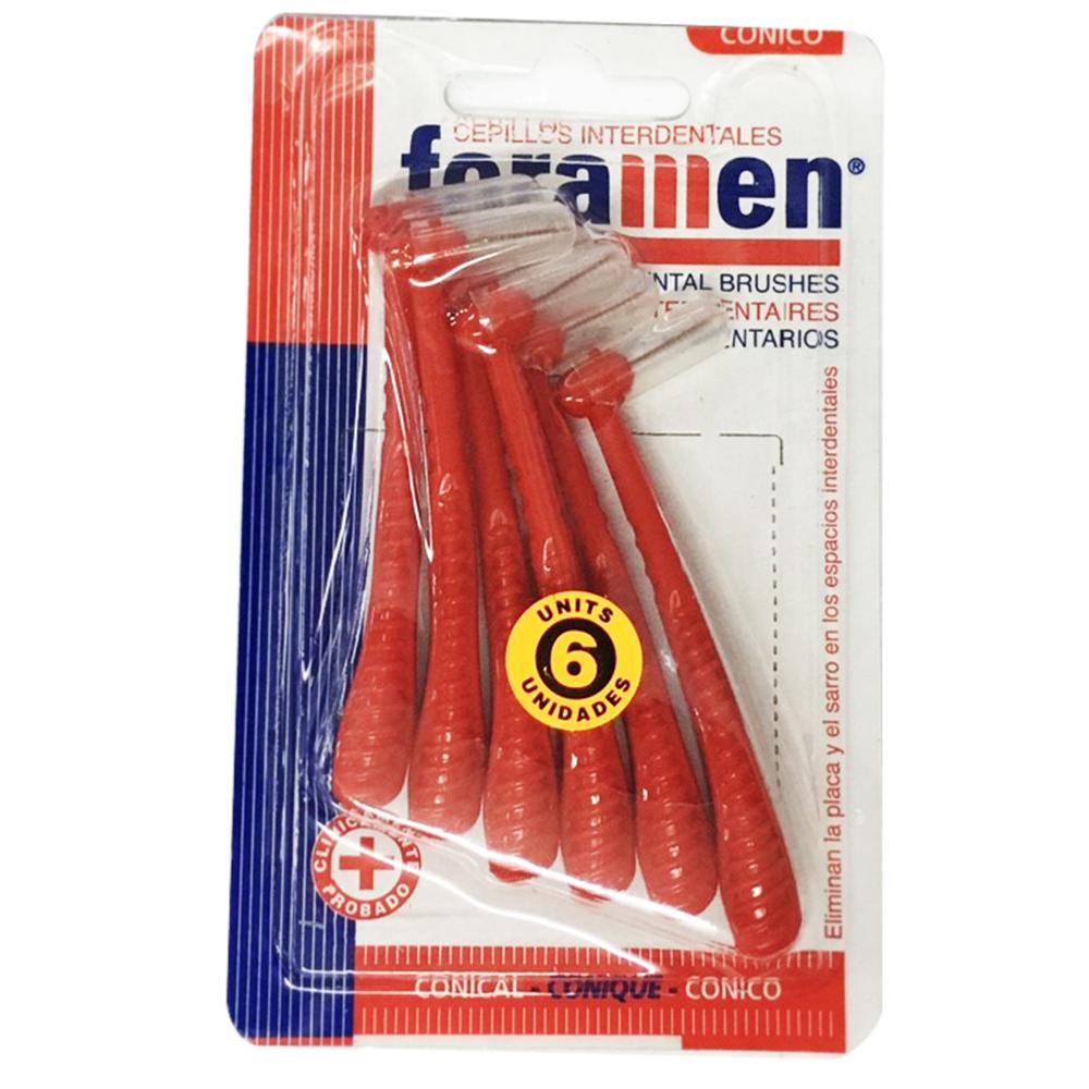 西班牙Foramen L型牙間刷6入(紅/錐形)