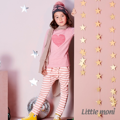 Little moni 條紋哈倫褲 (共2色)