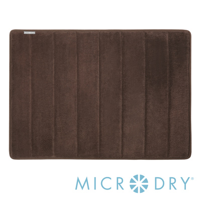 Microdry 時尚地墊 舒適記憶綿浴墊【巧克力/ L】(53x86cm)