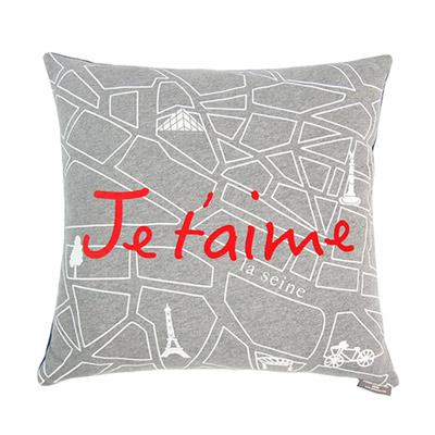 Yvonne Collection巴黎街景45x45cm方形抱枕-暗灰