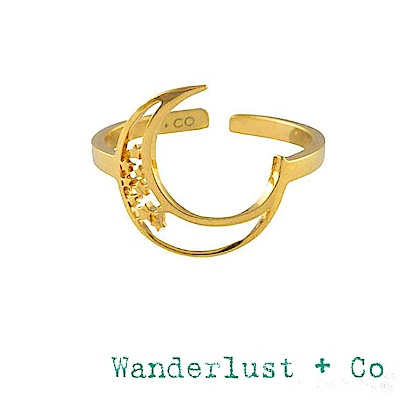 Wanderlust+Co 澳洲品牌 新月戒指 星星月亮戒指ELEA CRESCENT
