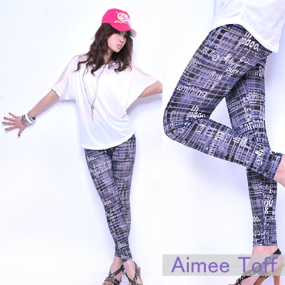 Aimee Toff 新款英文立體視覺感內搭褲
