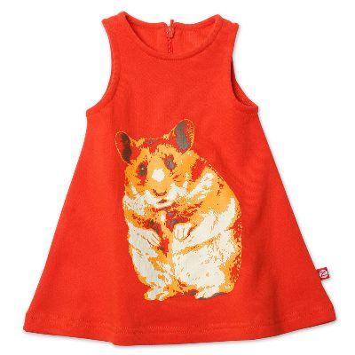 【Zutano】JTFT324繽紛糖果橘色小倉鼠無袖洋裝(12-4T)