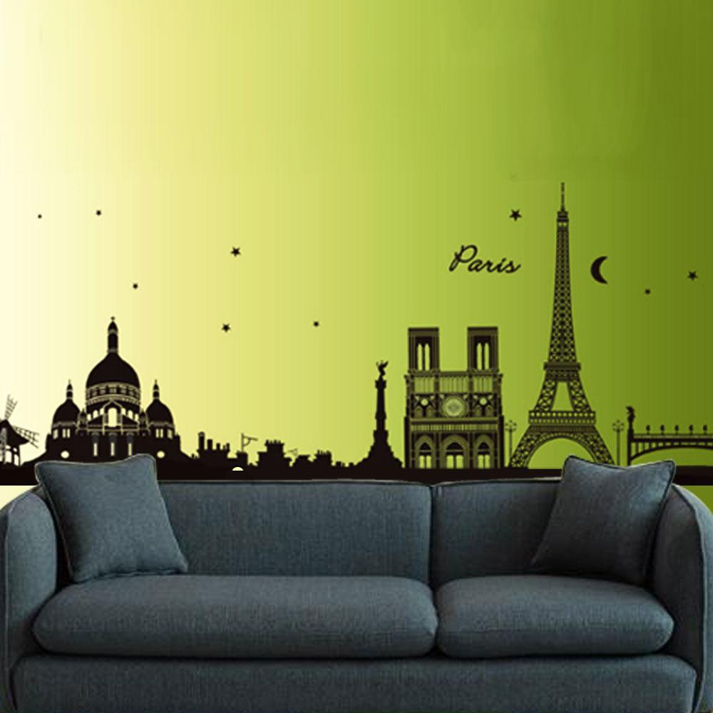B-060創意生活系列-創意巴黎鐵塔 大尺寸高級創意壁貼 / 牆貼