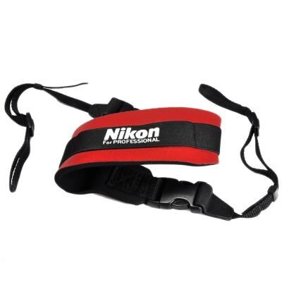 Nikon-原廠相機減壓肩背帶-紅色