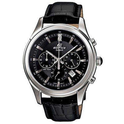 EDIFICE 完美主義施華洛士奇計時腕錶(EFR-517L-1A)-黑/40.5mm