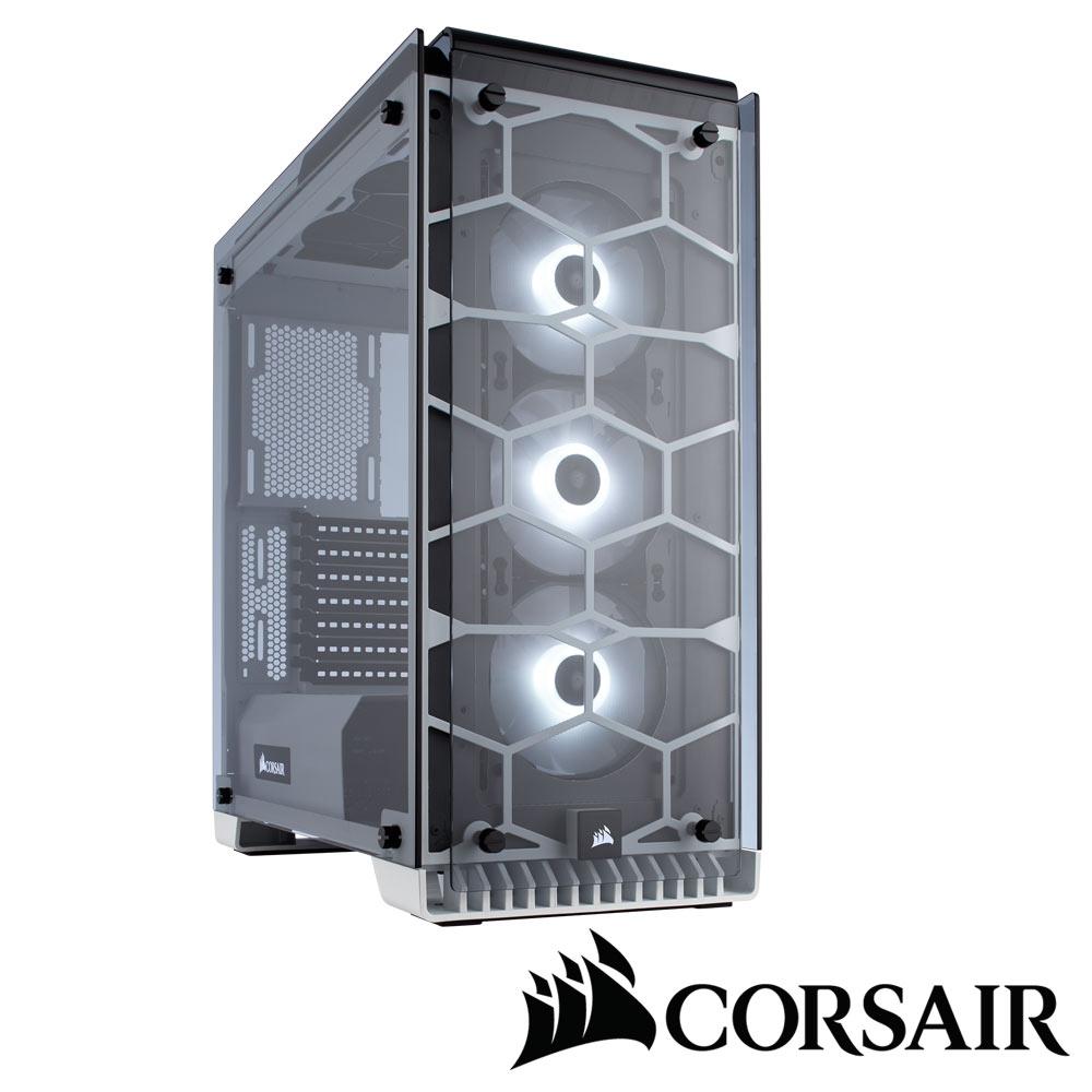 CORSAIR 570X RGB電腦機殼-白