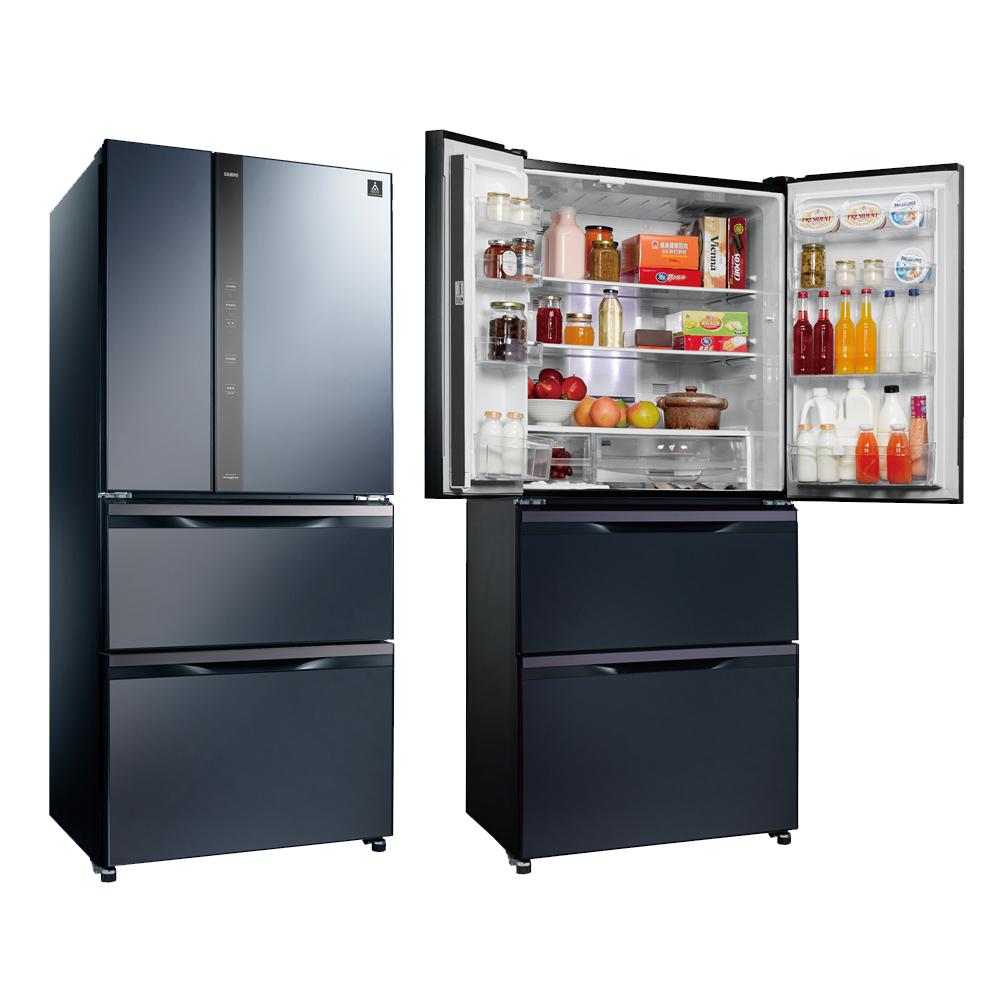 福利品SAMPO聲寶560公升AIE智慧節能冰箱SR-NW56DD B3基本安裝
