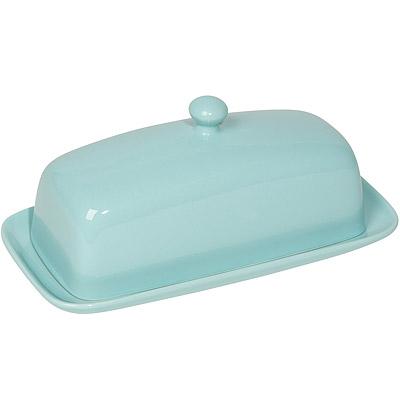 NOW 長方附蓋奶油盤(藍)