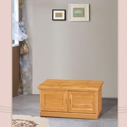 凱曼 朵拉3尺實木坐鞋櫃