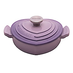 LE CREUSET 琺瑯鑄鐵愛心燉飯鍋20cm-藍鈴紫-鋼頭