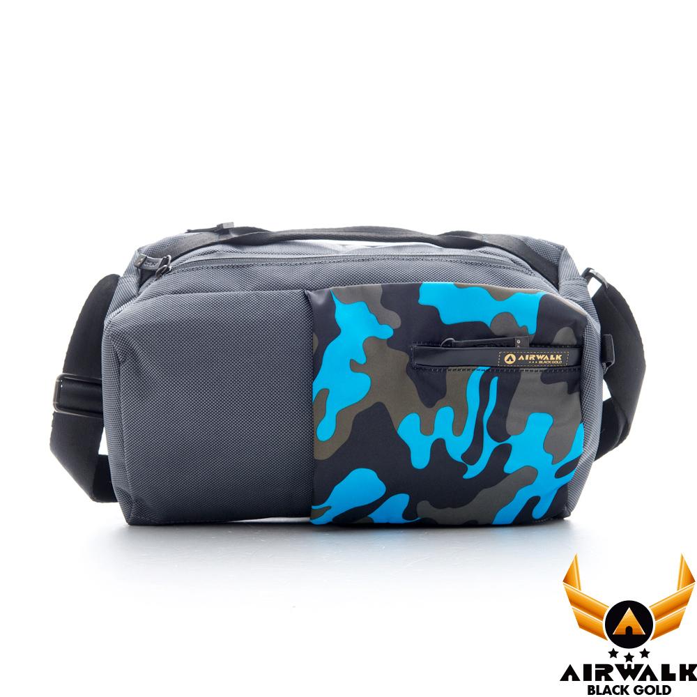 AIRWALK - 黑金系列 簡約三角設計隨身斜肩包 - 灰