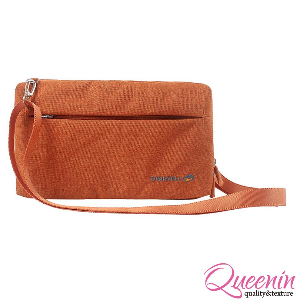 DF Queenin - 韓版高質感旅行專屬側背包-橘色