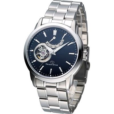 Orient Star 經典小鏤空動力儲存機械腕錶-黑/39mm