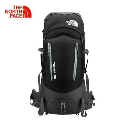 The North Face北面黑色舒適便捷雙肩背包