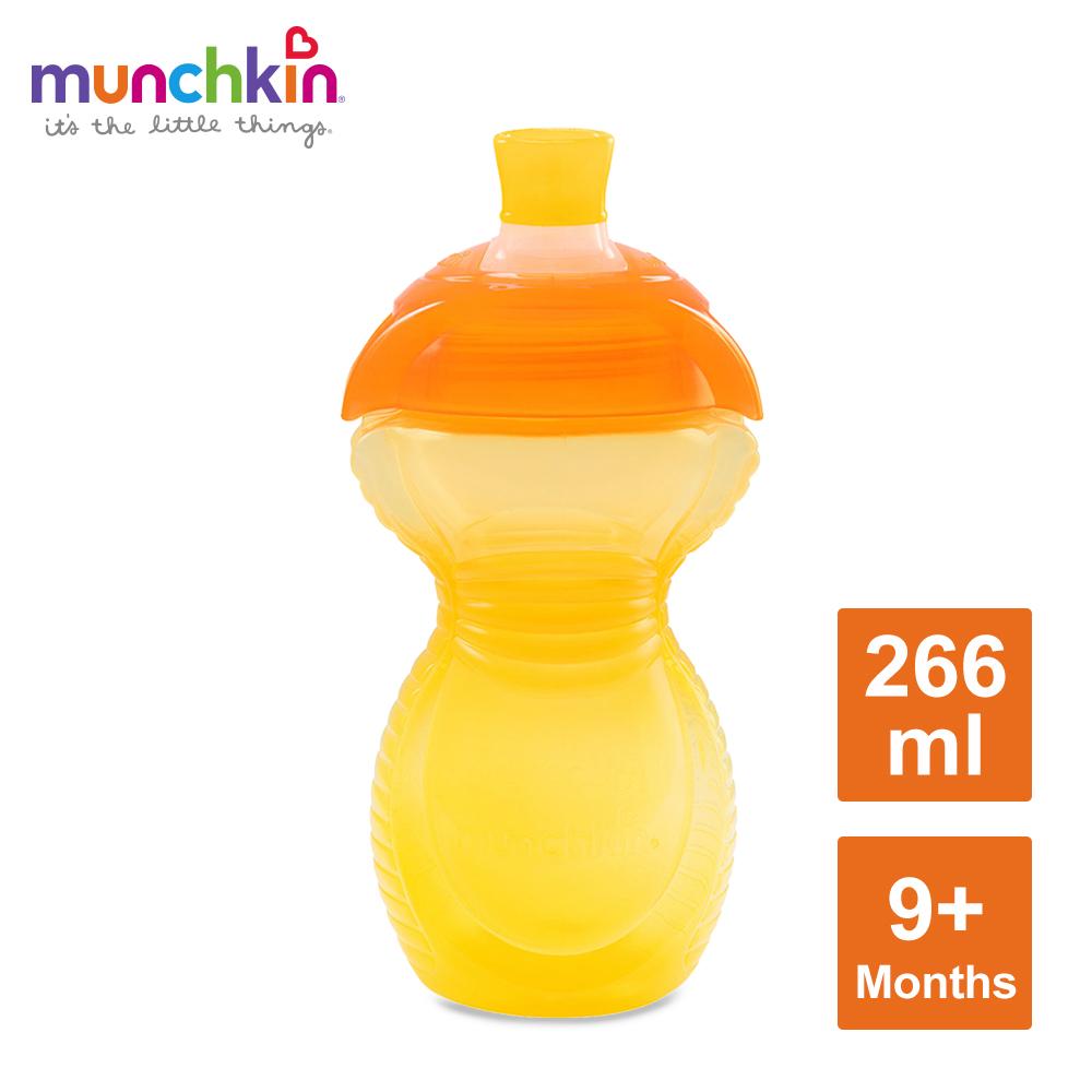 munchkin滿趣健-貼心鎖鴨嘴防漏杯266ml-黃