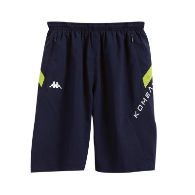 KAPPA義大利小朋友吸濕排汗速乾緯彈單層半短褲~新丈青 岩草綠