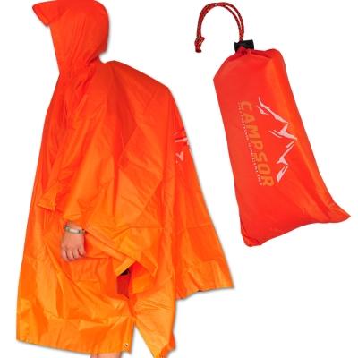 【ONEROAD】三用斗篷雨衣‧登山連帽雨衣/戶外防水外帳/帳篷底布地墊