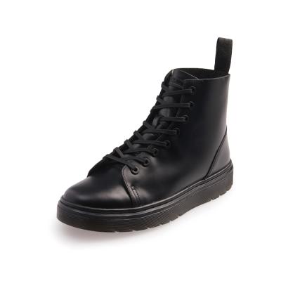 Dr.Martens TALIB-8孔扁線亮皮馬汀鞋-女款-黑