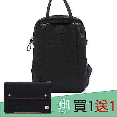Moyoung 買1送1帕米爾點點機能多功能包S 率性黑