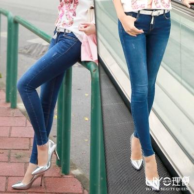 LIYO理優韓系褲子單寧牛仔長褲-藍